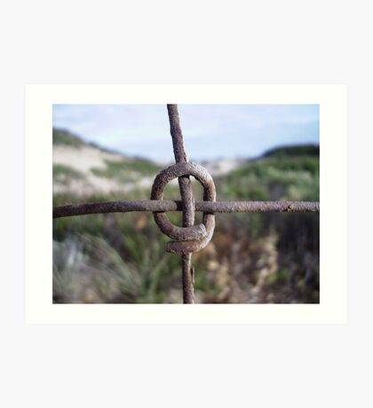 The Fence - Abstract  Art Print
