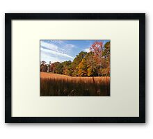 """A Peaceful Fall Day in Georgia""... prints and products Framed Print"