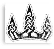 Skyrim Distressed Winterhold Logo - B&W Canvas Print
