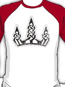 Skyrim Distressed Winterhold Logo - B&W T-Shirt