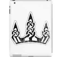 Skyrim Distressed Winterhold Logo - B&W iPad Case/Skin