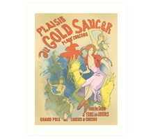 Plaisir au Gold Saucer Art Print