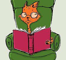 Suspicious Mind; Cat Illustration by TsipiLevin