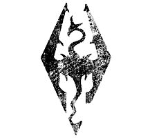 Skyrim Distressed Logo Photographic Print