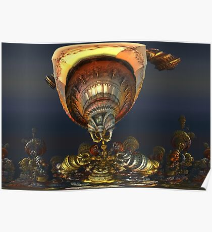 Steampunk Airships Poster