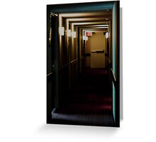 Exit left......... Greeting Card