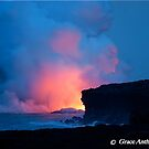 Lava Glow - Earth, Wind, Fire and Water by Grace Anthony Zemsky