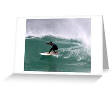 Surfing Bay of Fires  Greeting Card