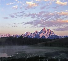 Tetons & Pond by Mike Norton