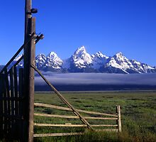 Tetons & Gate #2 by Mike Norton