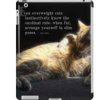 Overweight cats-saying iPad Case/Skin