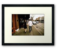 Kate and Nathan walk Framed Print