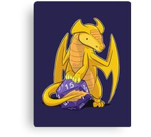 D20 Gold Dragon Canvas Print