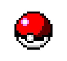 Pixel Pokeball Photographic Print