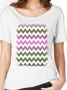 Pink Roses in Anzures 1 Chevron 1T Women's Relaxed Fit T-Shirt