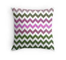 Pink Roses in Anzures 1 Chevron 1T Throw Pillow