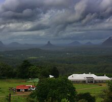 Glasshouse Mountains by Keith G. Hawley