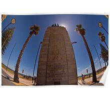 Monument,Glenelg Beach,South Australia Poster