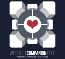 Weighted Companion Cube Loves You T-Shirt