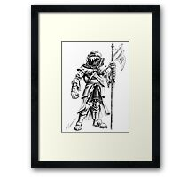 Ridley, the Dragonborn Fighter Framed Print