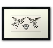 angels with crown Framed Print