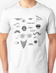 Fractured Facial Features T-Shirt