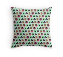pixel face pattern Throw Pillow