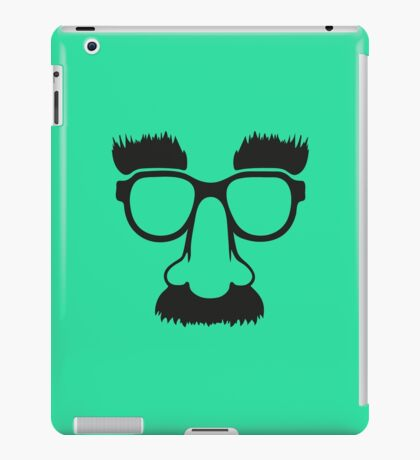 Groucho mask - nerd glasses iPad Case/Skin