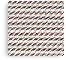 pixel face pattern Canvas Print