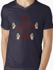 """My """"people skills"""" are """"rusty""""! Mens V-Neck T-Shirt"""