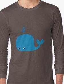 Cute Little Whale Long Sleeve T-Shirt