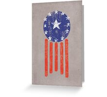 Old World America Flag Greeting Card