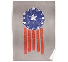 Old World America Flag Poster