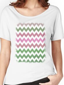 Pink Roses in Anzures 1 Chevron 2T Women's Relaxed Fit T-Shirt