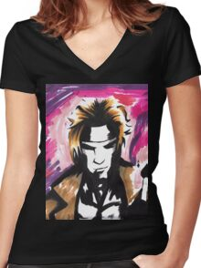 Psychedelic Gambit Women's Fitted V-Neck T-Shirt