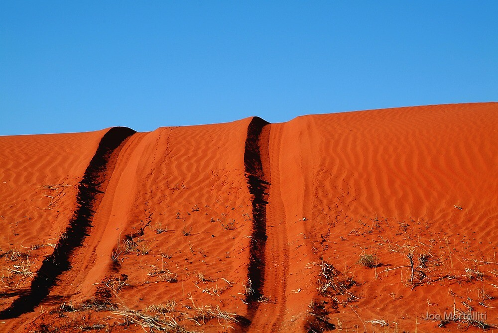 Up and Over,Madigan Line Simpson Desert by Joe Mortelliti