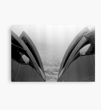 Opera House mono duo Canvas Print