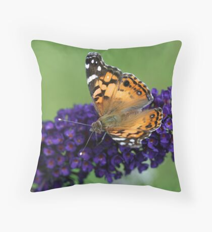 Fluttering Around Throw Pillow