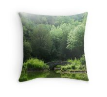 Emerald Days Throw Pillow