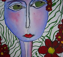 Face and Flower by Chloe  McGrath