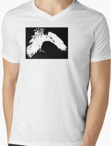 Corvidae Logo Mens V-Neck T-Shirt