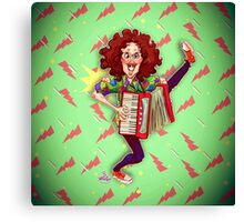 Alfred (Weird Al) Yankovic and Harvey the Wonder Hamster Canvas Print
