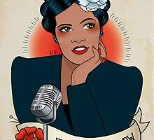 Billie Holiday by Cale Lobba