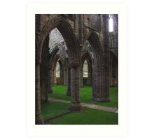 Archway Labyrinth, Tintern Abbey ~ Wye Valley, Monmouthshire 2009 Art Print