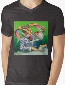 March Hare at the Tea Party Mens V-Neck T-Shirt