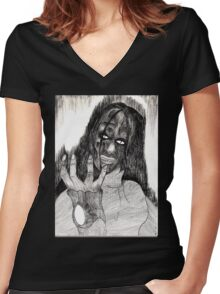 Lady Awa Women's Fitted V-Neck T-Shirt