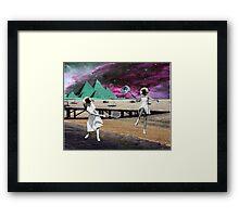 Moon Tennis Framed Print