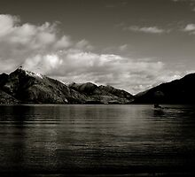 Queenstown, Lake Wakatipu New Zealand by Allan Johnston