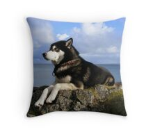Coastline Canine 2 Throw Pillow