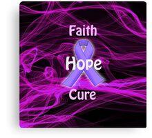 Purple Ribbon Awareness Canvas Print
